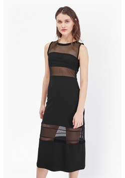 Manhattan Mesh Panelled Midi Dress