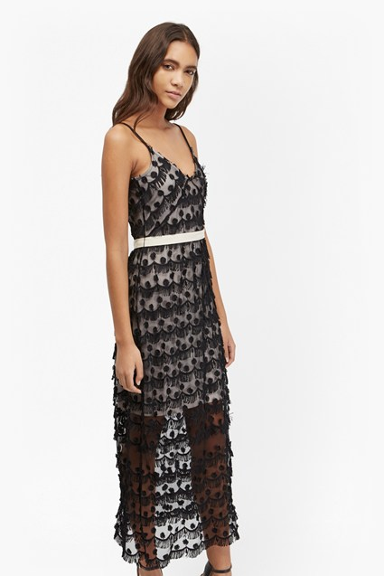 Tassel Beach Textured Maxi Dress