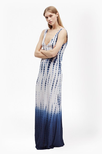 Holiday Wave Tie Dye Maxi Dress
