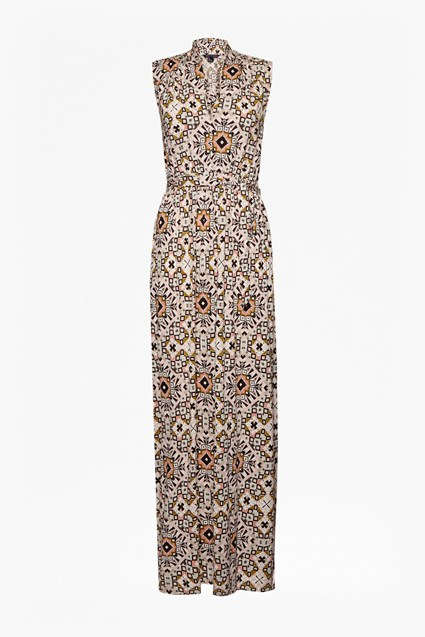 Electric Mosaic Jersey Maxi Dress