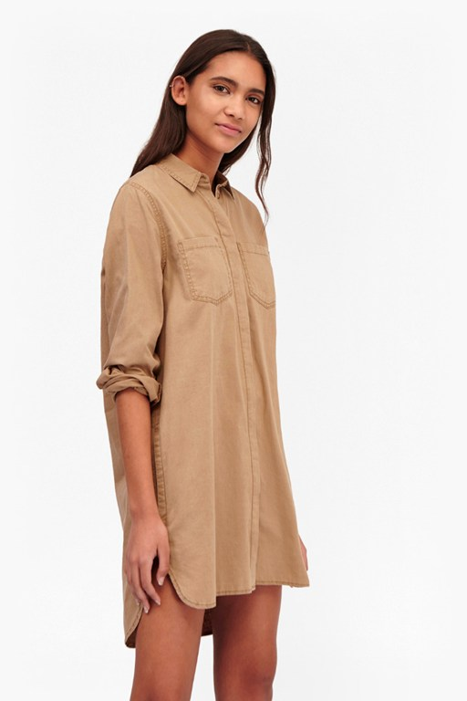 Complete the Look Pistols Cotton Shirt Dress