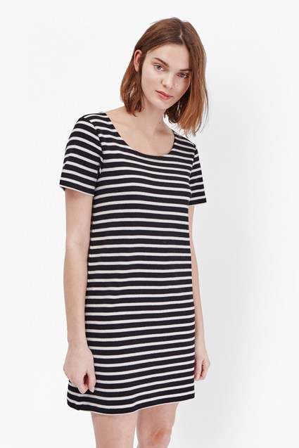 Annie Striped T-Shirt Dress