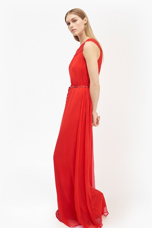 amboselli beaded maxi dress