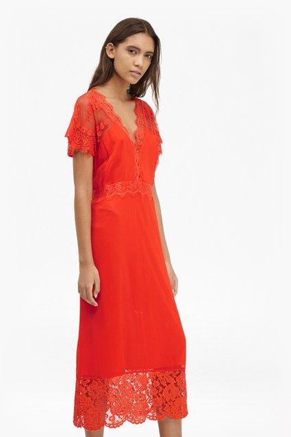Siena Lace Midi Tea Dress