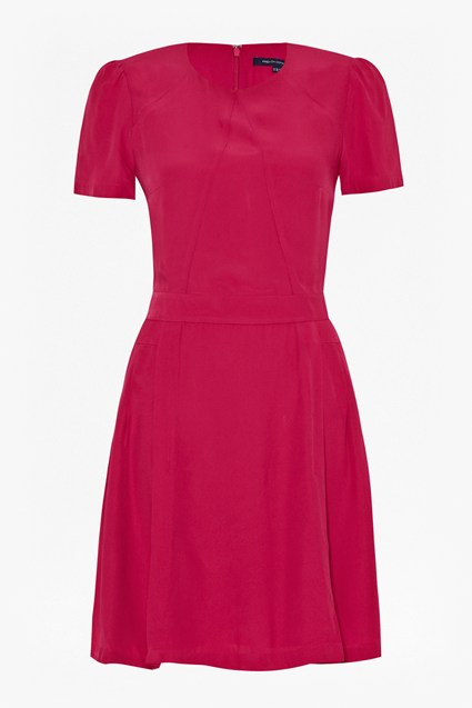 Hannah Crepe Flared Dress