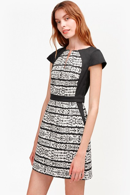 Mayan Stripe Printed Dress