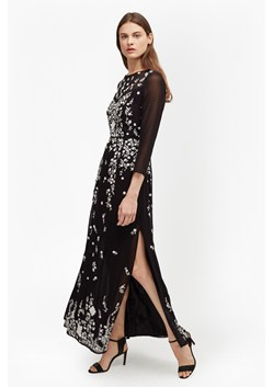 Midnight Garden Embroidered Maxi Dress