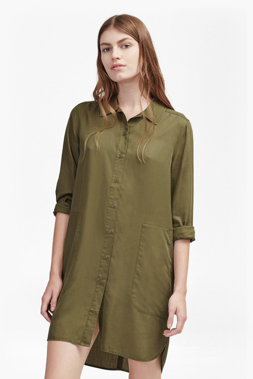 Military Tencel Shirt Dress | Sale | French Connection