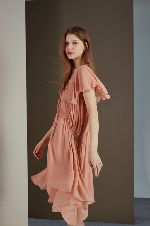 Complete the Look Brooke Drape Tea Dress
