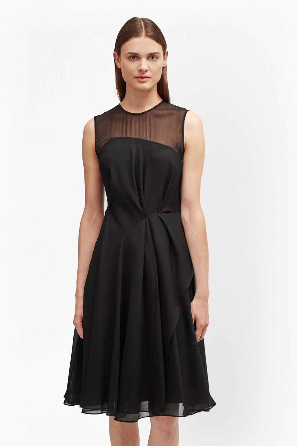 ac7547f53cd0 Winter Ray Flared Chiffon Skater Dress | Collections | French Connection