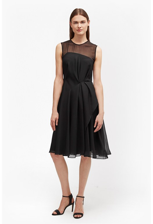 Winter Ray Flared Chiffon Dress