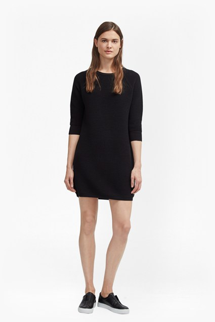 Mozart Ripple Rib Jumper Dress