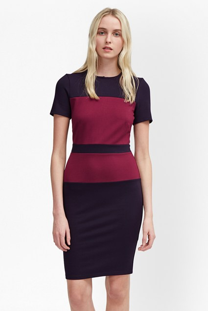 Lula Colour Block Bodycon Dress
