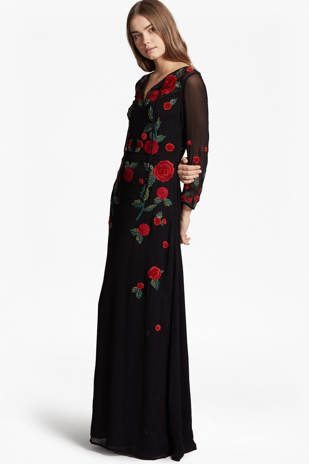 Amore sparkle embroidered maxi dress collections