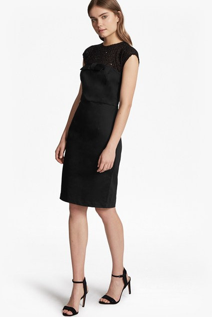 Hettie Jewel Capped Sleeves Dress