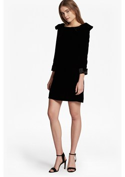 Nova Velvet Bow Detail Tunic Dress