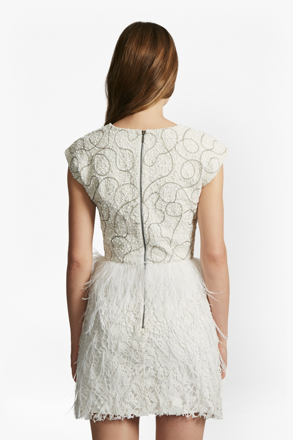 d3a365d6054 Snow Spell Feather Beaded Dress. loading images... loading images.