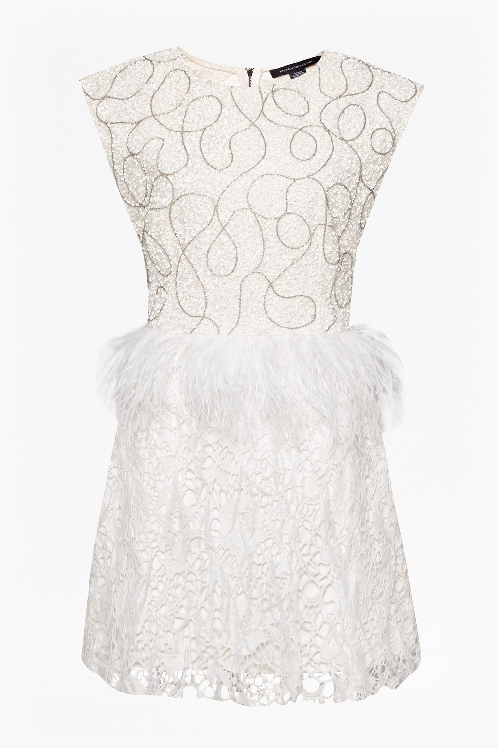 2255f637ed1 loading images... loading images... Snow Spell Feather Beaded Dress