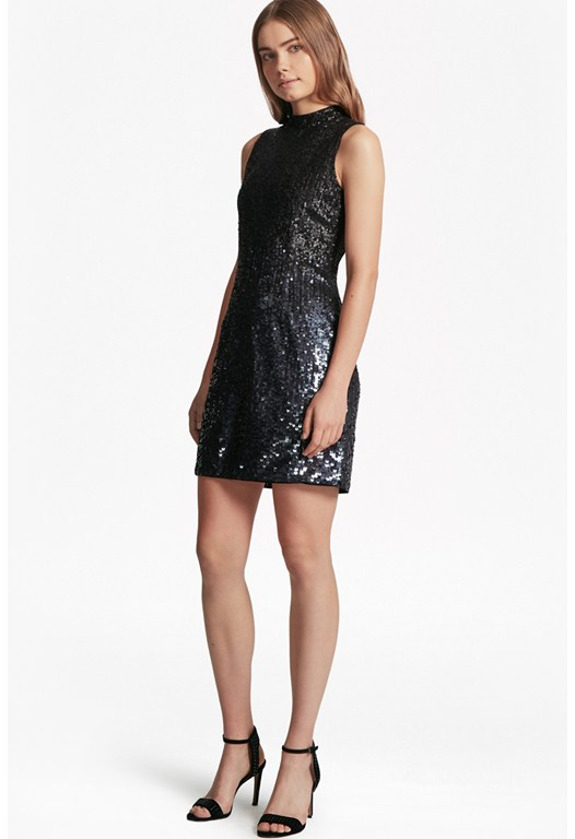 Starlight Sparkle High Neck Sequin Dress