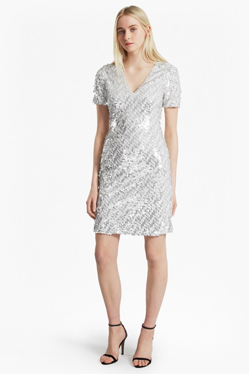 snow sequins bodycon dress