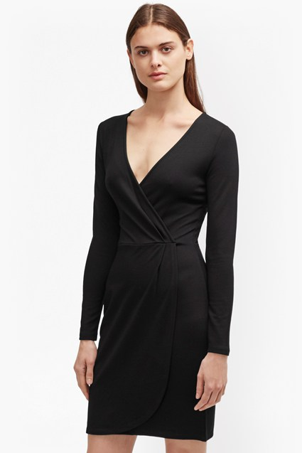Plain Wrap Dress