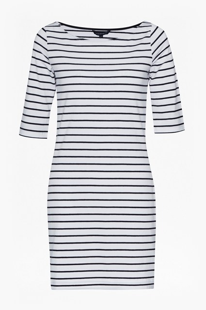 Tim Tim Boat Neck Stripe Dress