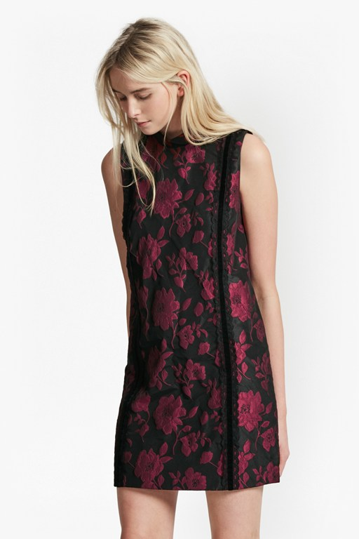 betty brocade tunic dress