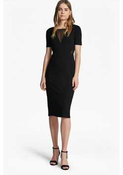 Band Mesh Insert Bodycon Dress