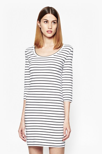 Tim Tim Scoop Neck Stripe Dress