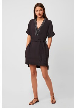 Karlo Drape Belted Embellished Dress