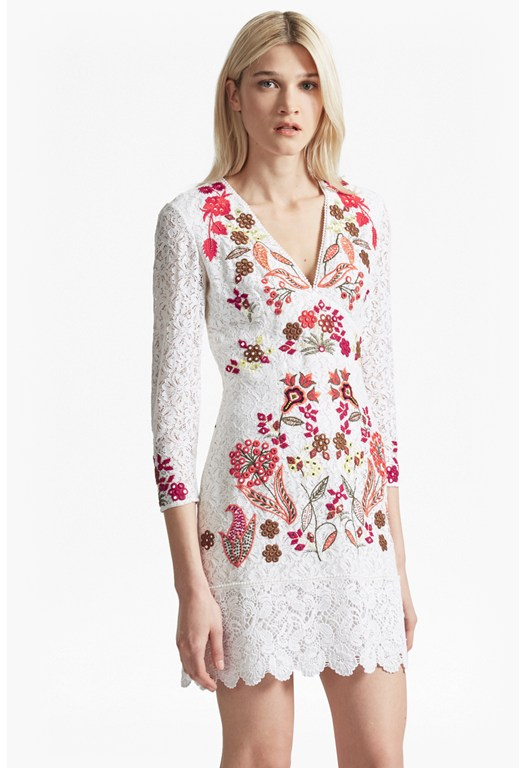 Legere Lace Floral Embroidered Dress
