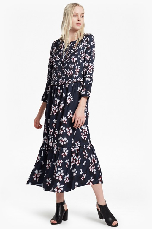 eva crepe oversized maxi dress