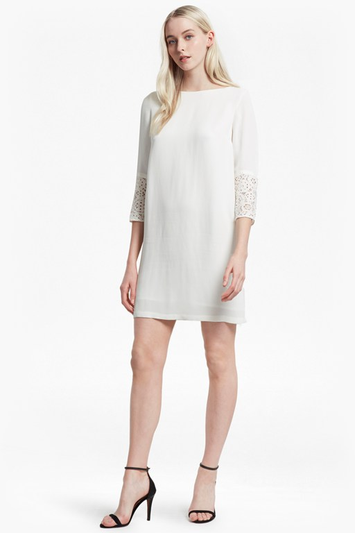 ensore crepe crochet lace tunic dress