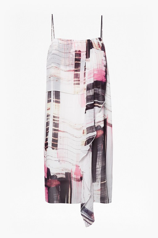 cornell sheer printed crepe dress