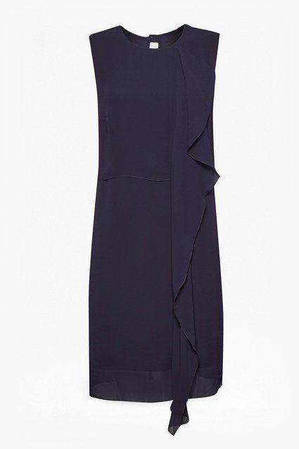 James Sheer Fluted Front Dress