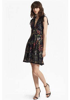 Bluhm Broderie V Neck Ruffled Dress