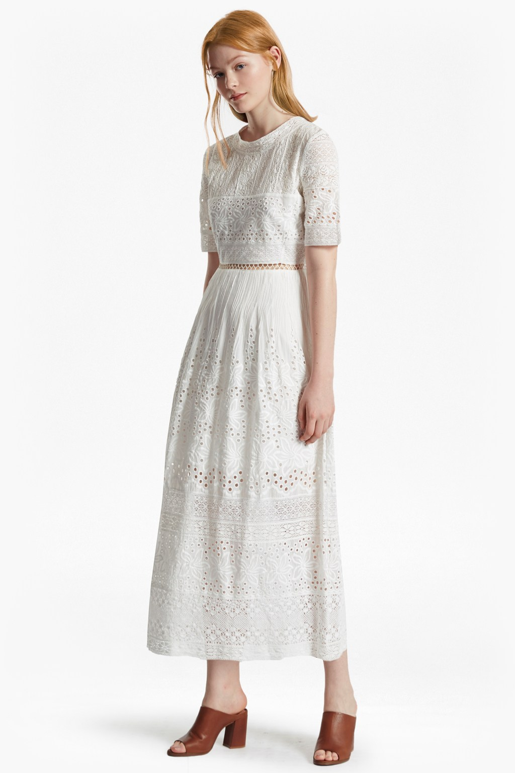 Hesse embroidered maxi dress collections french connection