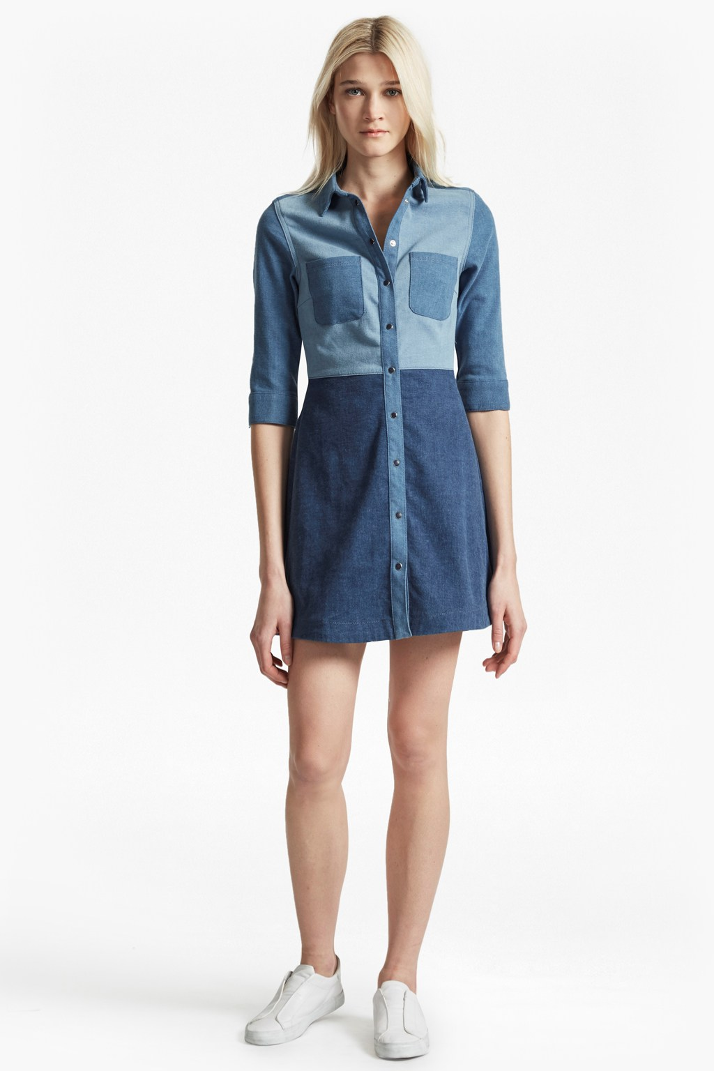 Edie denim shirt dress collections french connection for French connection t shirt dress
