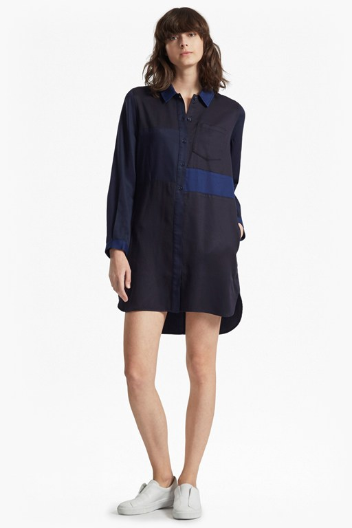 kruger tencel mix shirt dress