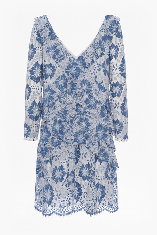 antonia lace v neck dress