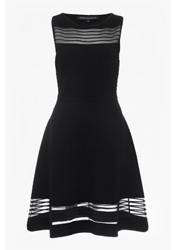 Tobey Crepe Knits Knee Length Skater Dress
