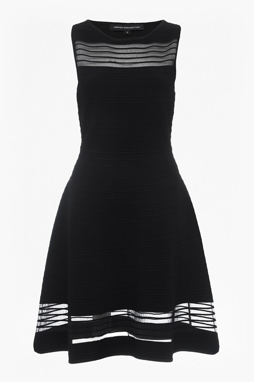 tobey crepe knits knee length flared dress