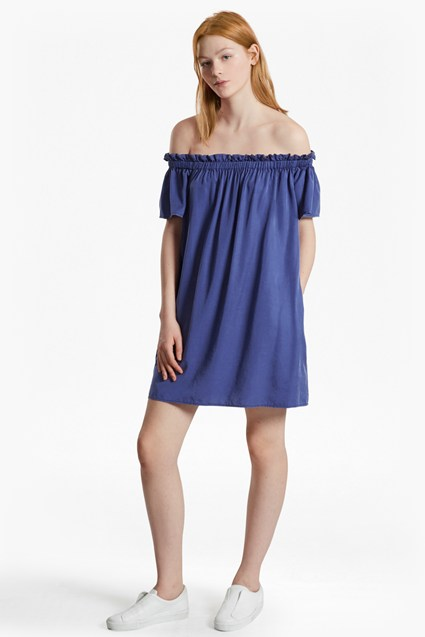 Stayton Ruffle Bardot Dress