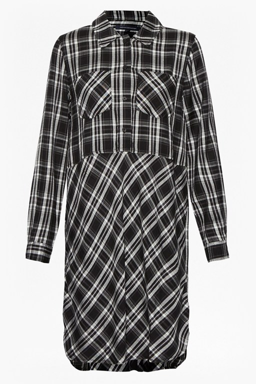 darla check shirt dress