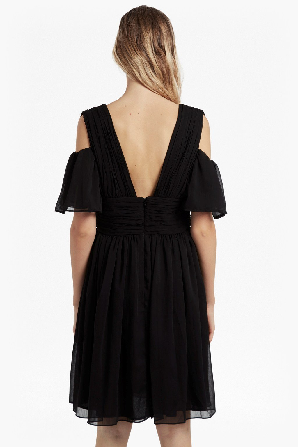 d1d55567 Constance Draped Cold Shoulder Dress | Collections | French Connection