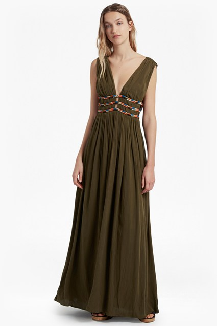 Hasan Beaded Maxi Dress