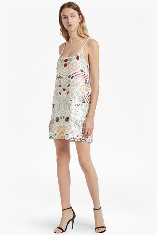 adanya shine sequinned slip dress