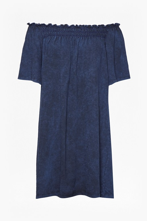 chisulo smock jersey off shoulder dress
