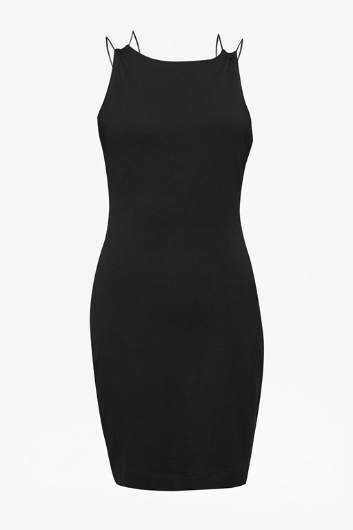 kali jersey strappy back mini dress