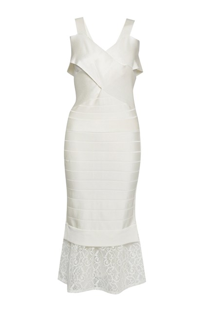 Solar Spotlight Bandage Midi Dress